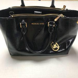 Michael Kors women's leather black satchel